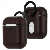 Case-Mate Airpods Leather Hook Ups - Brun