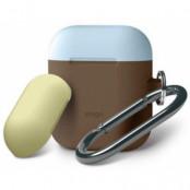 Elago AirPods Duo Hang Case for AirPods Case - Brun (gul/blå)