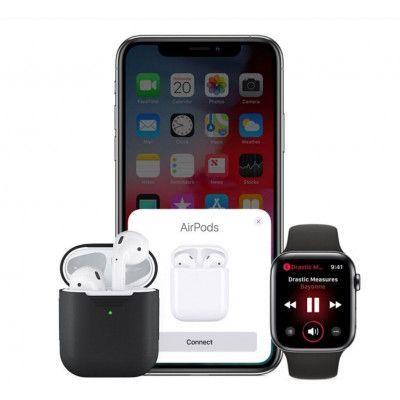 KeyBudz PodSkinz Silicone Case (Apple AirPods 1/2) - Blå