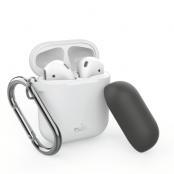 Puro Silicone Case AirPods med krok - Vit