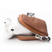 Qialino Leather Storage Bag for Apple AirPods - Brun