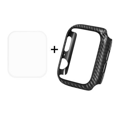 Hat Prince Carbon Fibre Case + Screen Protector (Apple Watch 5/4 40 mm)