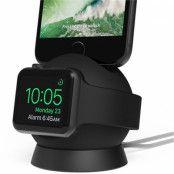 iOttie OmniBolt Charging Stand (iPhone/Apple Watch) - Svart