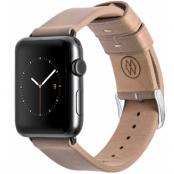 Monowear Leather Band (Apple Watch 42 mm) - Beige/grå