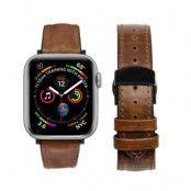 Qialino Watchband Äkta Läder till Apple Watch 4 40mm / Watch 3 38mm - Coffee