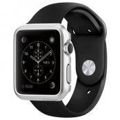 Spigen Thin Fit Skal till Apple Watch 38mm - Satin Silver
