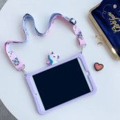 Trolsk Kids Case with strap - Cute Purple Unicorn (iPad Air 4)