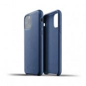 Mujjo Full Leather Case till iPhone 11 Pro Max - Monacoblå