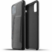 Mujjo Full Leather Wallet Case (iPhone 11 Pro Max) - Blå