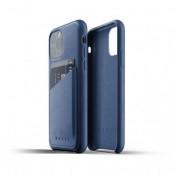 Mujjo Full Leather Wallet Case till iPhone 11 Pro Max - Monacoblå