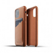 Mujjo Full Leather Wallet Case till iPhone 11 Pro - Tan