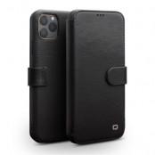 Qialino 2 Card Leather Wallet (iPhone 11 Pro) - Ljusbrun
