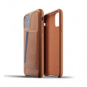 Mujjo Full Leather Wallet Case för iPhone 11 - Tan