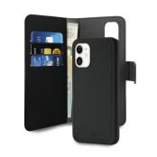 Puro - Detachable Plånboksfodral EcoLeather iPhone 11 - Svart