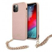 GUESS Skal iPhone 12 Pro Max Saffiano Chain - Rosa