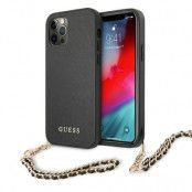 GUESS Skal iPhone 12 Pro Max Saffiano Chain - Svart