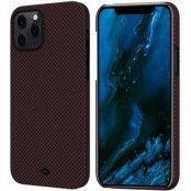 Pitaka MagEZ Plain Case (iPhone 12 Pro Max) - Svart/röd
