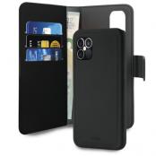 Puro EcoLeather Detachable Plånboksfodral iPhone 12 Pro Max - Svart