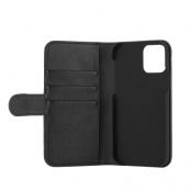 Essentials - 3 Cards PU Plånboksfodral iPhone 12 & 12 Pro - Svart