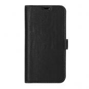 Essentials - Leather Detachable Plånboksfodral iPhone 12 & 12 Pro - Svart