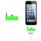 30 pin till lightning 3.5mm audio adapter till iPhone 5S/5 (Grön)