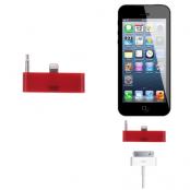 30 pin till lightning 3.5mm audio adapter till iPhone 5S/5 (Röd)