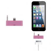 30 pin till lightning 3.5mm audio adapter till iPhone 5S/5 (Rosa)