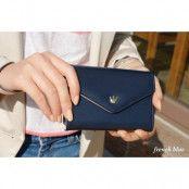 Crown Smart Fold plånbok-mobilväska (Blå)