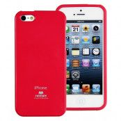 Mercury Pearl Jelly FlexiCase Skal till Apple iPhone 5/5S/SE (Magenta)