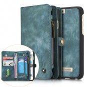 Caseme Retro Plånboksfodral av läder till iPhone 6(S) Plus - Blå