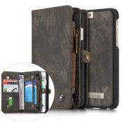 Caseme Retro Plånboksfodral av läder till iPhone 6(S) Plus - Grå