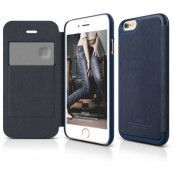 Elago Leather Flip Case (iPhone 6(S) Plus) - Blå