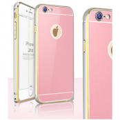 JFX Metallbumper-skal till Apple iPhone 6(S) Plus (Rose Gold - Silver)