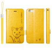 Leiers Domi Cat Plånboksfodral till Apple iPhone 6(S) Plus - Gul