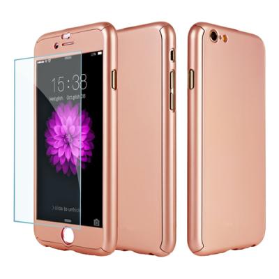 Pavoscreen 360° Helomslutande skal för iPhone 6(S) Plus, rosa guld