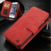 Caseme Plånboksfodral i läder till Apple iPhone 6(S) Plus - Röd