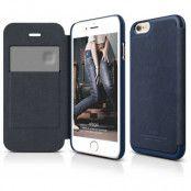 Elago Leather Flip Case (iPhone 6/6S) - Svart