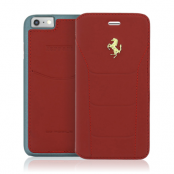 Ferrari 488 Book Case Fodral till Apple iPhone 6 (S) - Röd