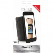 Puro Running Wristband iPhone 6/6S - Svart