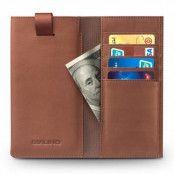 Qialino Universal Pouch Wallet i äkta läder - Brun