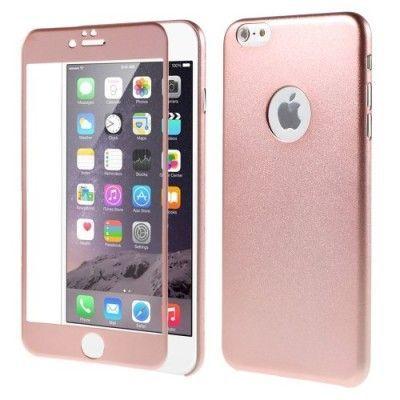 Skal med Tempered Glass till Apple iPhone 6(S) Plus - Rose Gold