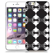 Skal till Apple iPhone 6 / 6S - Mönstrad tapet - Svart