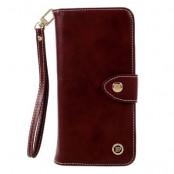 Multifunctional Wallet Plånboksfodral till iPhone 7/8 Plus - Vinröd