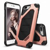 Ringke Double Layer Armor Tough Skal till iPhone 7 Plus - Rose Gold