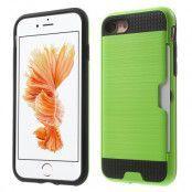 Brushed Hybrid Mobilskal till iPhone 7 - Grön