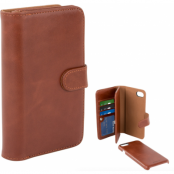 Champion Double Leather Wallet (iPhone 8/7) - Brun
