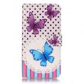 Plånboksfodral till iPhone 7/8 Plus - Butterfly Polkadot