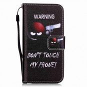 Plånboksfodral till iPhone 7 - Warning! Don't Touch My Phone