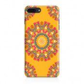 Skal till Apple iPhone 7 Plus - Blommigt mönster - Orange