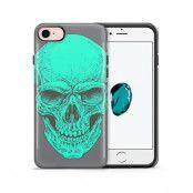 Tough mobilskal till Apple iPhone 7/8 - Dödskalle - Turkos